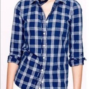 J. Crew Plaid Button Up Shirt Size 14